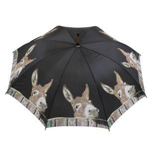Regenschirm holz esel