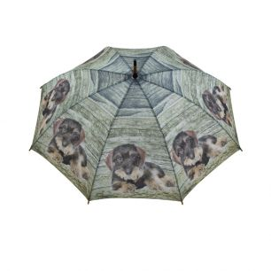 Regenschirm teak dackel liegend