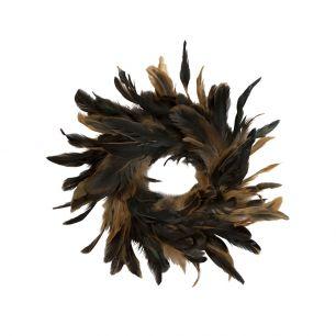 Kranz hahn schwarz/braun 15cm