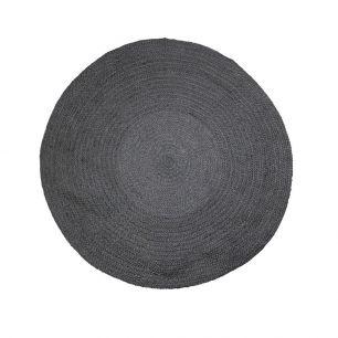 Jute Teppich schwarz Ø120cm