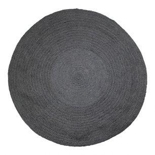 Jute Teppich schwarz Ø170cm