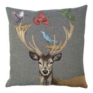 Gobelin kissen funky deer nest 45x45cm