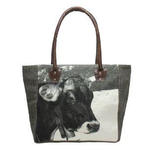 Handtasche winter schweizer kuh