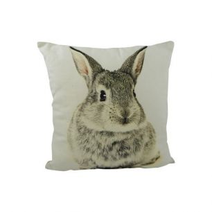 Kanevas kissen kaninchen grau doppelseitig 33x33cm