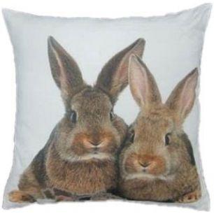 Kanevas kissen 2 kaninchen braun 50x50cm