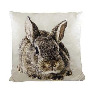 Kanevas kissen kaninchen braun/grau 50x50cm