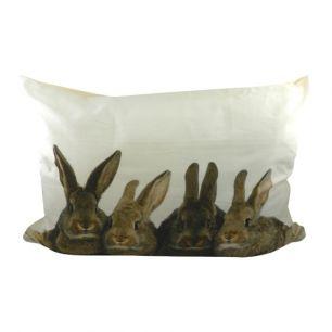 Kanevas kissen xl kaninchen braun 50x70cm