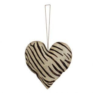 Hängedekoration zebra herz groß 20cm