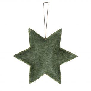 Hängedekoration stern grün groß