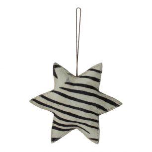 Hängedekoration zebra stern groß 20cm