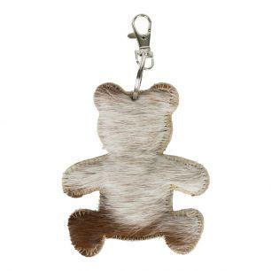 Schlüsselanhänger bär braun/weiß