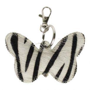 Schlüsselanhänger schmetterling zebra
