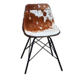 Stuhl kuh braun weiss x (selbstbau)