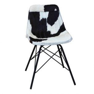 Stuhl kuh schwarz weiss x (selbstbau)