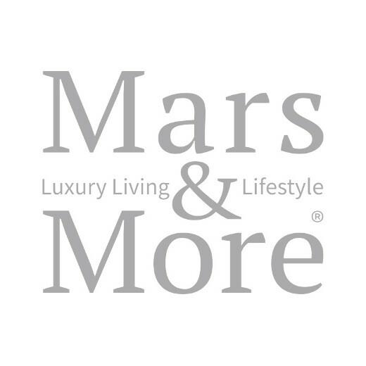 Rattan windlicht schwarz diamant recht 17cm