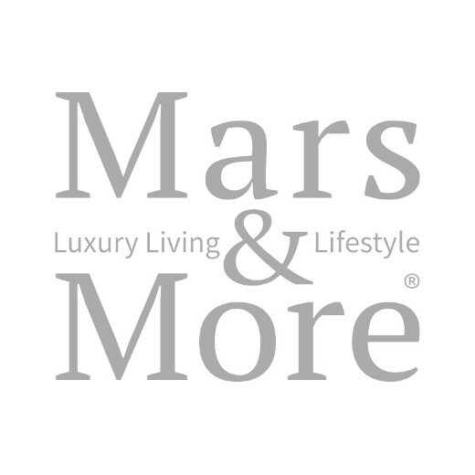 Rattan windlicht schwarz diamant rund 15cm