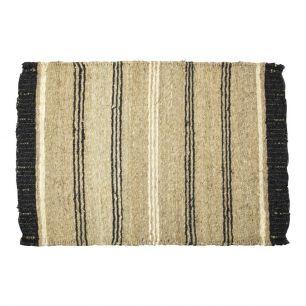 Seegras teppich schwarz streif 60x90cm