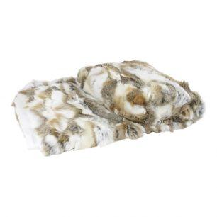 Decke kaninchen mischen braun 130x180cm