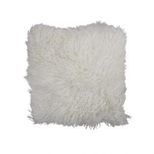 Kissen schaf lockiges haar weiß 40x40cm