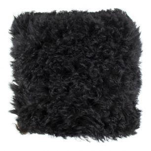 Kissen schaf wolle schwarz 40x40cm