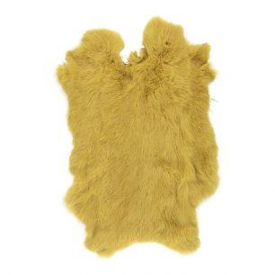 Fell kaninchen gelbgold