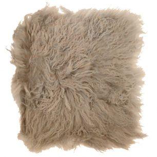 Sitzkissen schaf lockiges haar beige 40x40cm
