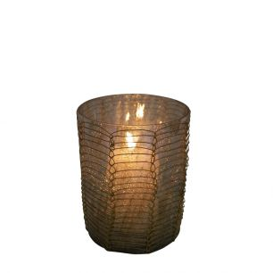Teelicht filigran1 recht braun 8cm