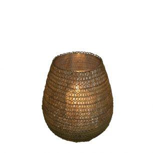 Teelicht filigran3 rund gold 10cm