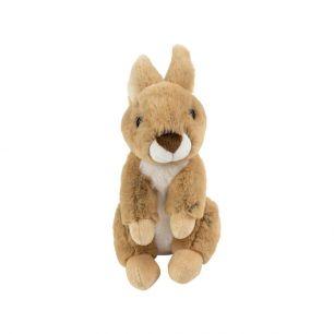 Kuscheltier sitzendes braun kaninchen 21cm