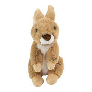 Kuscheltier sitzendes braun kaninchen 23cm