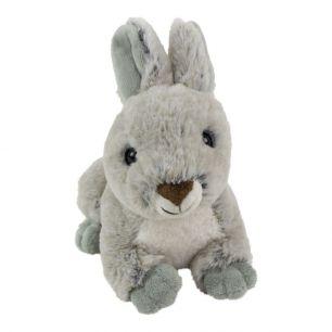 Kuscheltier kaninchen liegend grau 21cm