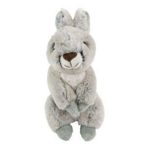 Kuscheltier sitzendes graues kaninchen 21cm
